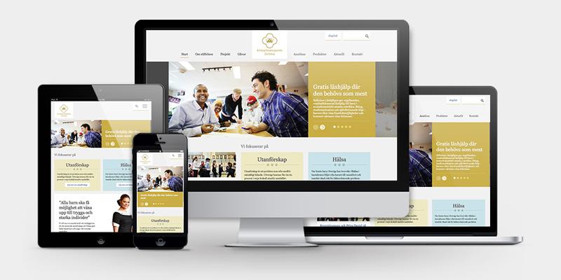 Kronprinsessparets stiftelses webbplats